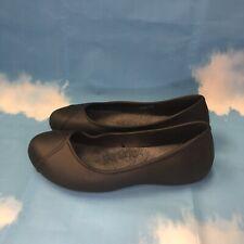 Crocs Women's Dual Comfort SZ 8 Black Stretch Slip On Casual Flat Ballet Lined