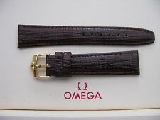 Brand New 19mm Brown Leather Strap & Vintage 16mm Omega Gold Plated Buckle