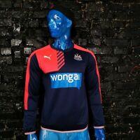 Newcastle United The Magpies Training Jacket Long Sleeve Navy Blue Puma Mens M
