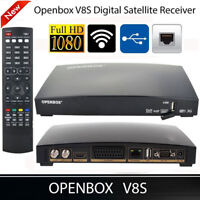 OPENBOX V8S DVB-S2 1080P HD TV Satellite Receiver Set Top Box Support WEB TV Key