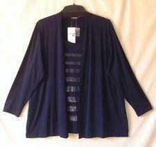 Samoon Shirt by Gerry Weber Longstyle Two in One edel mit Pailletten Gr.50