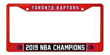 Toronto Raptors 2019 Champions RED Metal Chrome Frame License Plate Tag Cover