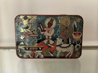 Scarce Huntley & Palmers Biscuit Tin With Cocktail Recipes, Horoscope Border