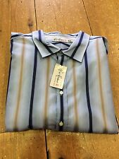 Bar Harbour King Size Long Sleeve Striped Shirt/Blue Mix - 4X