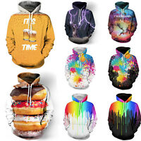 Funny 3D Graphic Mens Fashion Hoodie Sweater Sweatshirt Long Sleeve Pullover