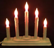 Vintage 5 Candle Candelabra With Flame Bulbs