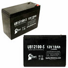 2-pack Schwinn s180 S750 s600 Battery UB12100-S 12V 10Ah Sealed Lead Acid AGM