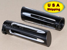 "USA Edge Cut 1"" 25mm Edge Contrast Hand Grips For Harley Dyna Sportster Softail"