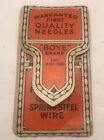 Vintage 'Boye' Brand PAT. 3-23-1920 Quality Wool Darning Needles Lot (11)