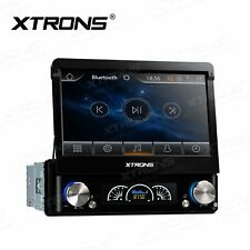 "XTRONS 7"" HD Touch Screen 1 DIN Car CD DVD Player Stereo GPS Sat Nav DAB+ Radio"