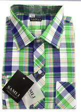 Chemises verte avec des motifs Carreaux pour garçon de 2 à 16 ans