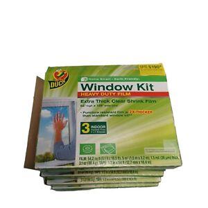 """Duck 281066 Indoor 3 Window Shrink Film Insulator Kit, 62"""" x 126""""  Lot of 5"""