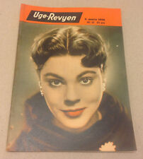 JOANNE GILBERT FRONT COVER LIPSTICK ADD BACK COVER VINTAGE Danish Magazine 1954