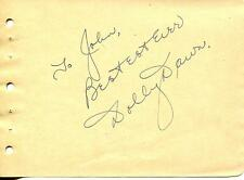 DOLLY DAWN SINGER WITH DAWN PATROL / COMPOSER / AUTHOR SIGNED PAGE AUTOGRAPH