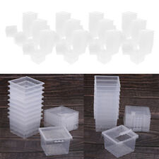 120x Plastic Pet Feeding Tank Empty Box Reptile Insect Breeding Box Cage