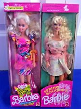 Sweet Spring 1991 & Spring Bouquet 1992 Barbie Great Condition NRFB Lot-2 Dolls