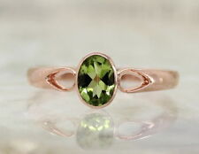 Solitaire Natural Rose Gold Fine Rings