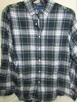 Button Up Shirt Men's Size XL Long Sleeve GREEN Blue PLAID Simply Styled