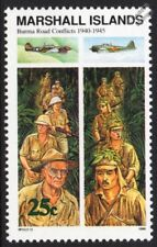 WWII 1940-1945 The BURMA ROAD Conflicts / Army & USAF Japanese Aircraft Stamp