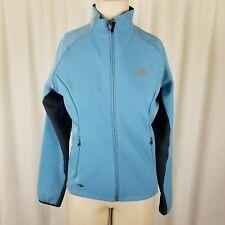 Adidas Climawarm Aqua Blue Back Pocket Running Jacket Windbreaker Shell Womens M