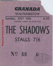 The SHADOWS 1961 Concert Ticket Stub CLIFF RICHARD