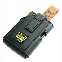 VanNuys leather vertical carrying case camel belt for Astell & Kern AK380 AK320