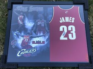 LeBron James Signed / Framed Cleveland Cavaliers Jersey JSA LOA #23 Lakers NBA !