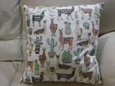 18 x 18 Beautiful Llamas and Cactus Pillow Cover with Insert Hand Crafted