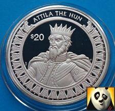 1997 conquérant Attila au Libéria 20 millions de Dollars au monde le Hun Silver Proof Coin