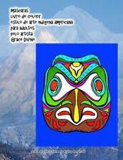 Máscaras Livro de Colorir Estilo de Arte Indígena Americana para Adultos Pelo...