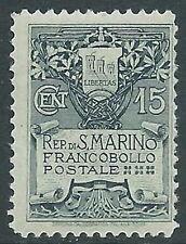 1907 SAN MARINO STEMMA 15 CENT MNH ** - X11