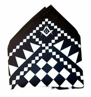 Freemasons  Masonic Craft Pocket Square Handkerchief  with  SC&G
