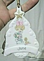 Precious moments ornaments CHRISTMAS for an August born porcelain high gloss