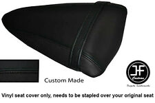 BLACK AUTOMOTIVE VINYL CUSTOM FOR KAWASAKI NINJA ZX6R 07-08 REAR SEAT COVER ONLY