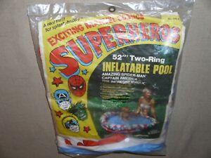 VINTAGE MARVEL SUPER HERO INFLATABLE POOL HULK RARE CAPTAIN MARVEL NEW MOC 1977