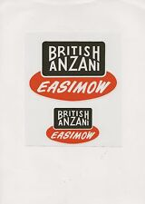 British Anzani Easimow Vintage Ride On Mower Repro Decals
