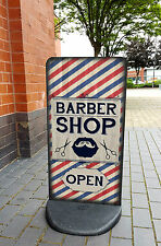Barbershop A-Board Pavement Sign - Barber Shop Sign, Hair Salon, EcoFlex 2