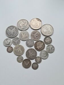 20 Silver Coin Collection USA Dimes Dollars Quarters 212 Grams Not Scrap Bullion