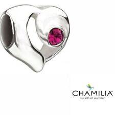 Autentico Chamilia 925 LTD ED 2012 Rosa appassionate Cuore Bracciale Charm 2025-0814