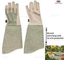 Womens/Ladies Briers Gauntlet Garden Glove Patterned Medium Gloves Size M UK NEW