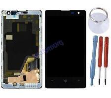 ECRAN LCD + VITRE TACTILE SUR CHASSIS BLOC COMPLETE POUR NOKIA LUMIA 1020 NOIR