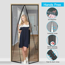 Hands Magnetic Screen Net Door w/ Many Magnets Anti Mosquito Bug Curta&@
