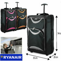 Lightweight 55x35x20 Hand Luggage Trolley Bag Cabin Flight Suitcase Ryanair Jet2