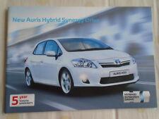 TOYOTA AURIS HYBRID Synergy Drive Gamme brochure SEP 2010