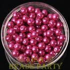 New 144pcs 8mm Round Czech Glass Pearl Loose Spacer Beads Rose