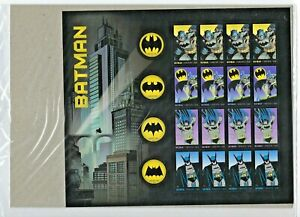USPS SEALED. Batman DC Comics Sheet of 20 Forever Stamps Scott 4928-35