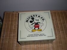 MICKEY MOUSE DISNEY LI-1563  LIMITED EDITION Fossil Watch and Wooden Toy Train