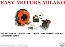 ACCENSIONE MVT DIGITAL DIRECT CON ROTORE INTERNO & USCITA LUCE DERBI SENDA 50cc