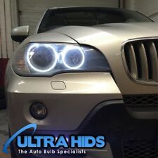 2x BMW X5 E70 LED White Angel Eyes Halo Rings Upgrade For Halogen Cars