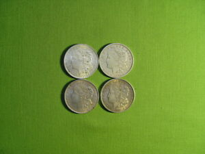 morgan silver dollar (4 coins all dated 1921)